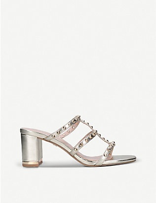 CARVELA: Salsa metallic faux-leather heeled sandals