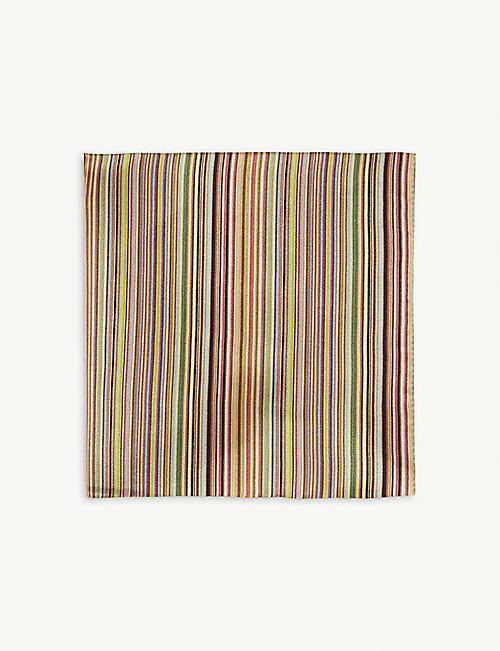 NEW SEASON Artist Stripe silk pocket square