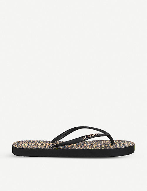 SEAFOLLY Safari spot rubber flip flops