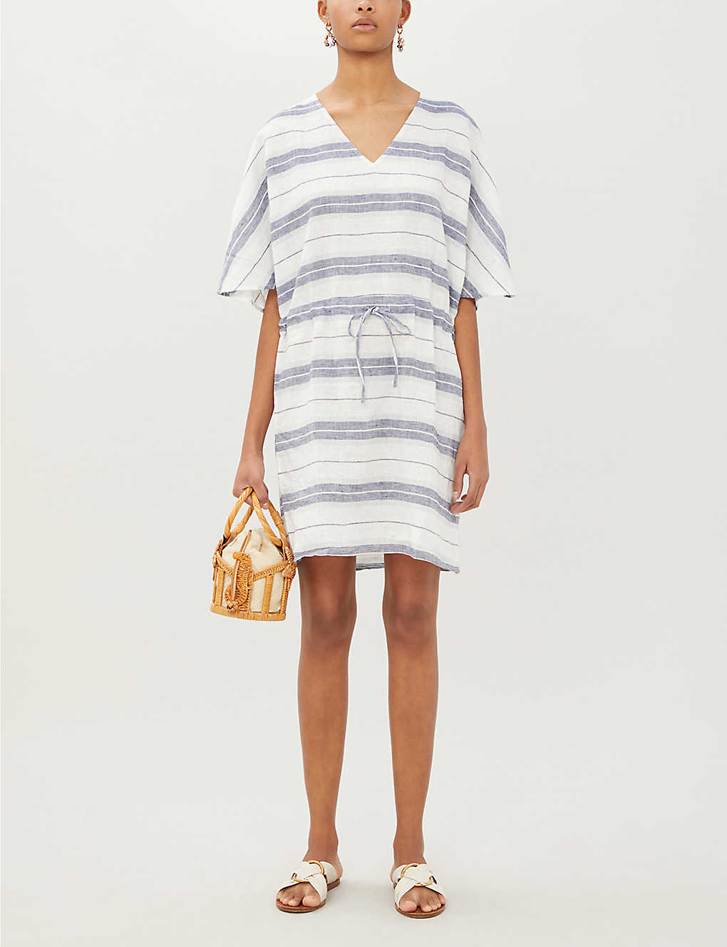 SEAFOLLY: Striped linen kaftan