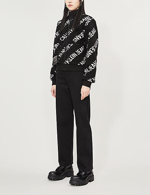 CALVIN KLEIN Logo-print fleece jacket