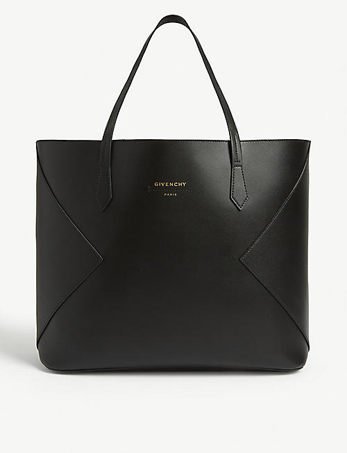 GIVENCHY Wing detail leather tote bag