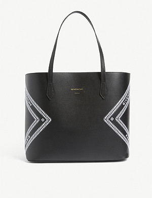 GIVENCHY Graphic logo leather tote