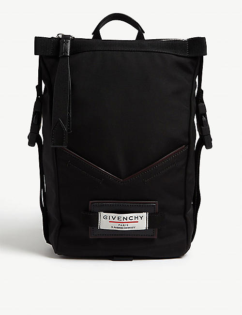 GIVENCHY: Downtown mini winged nylon backpack