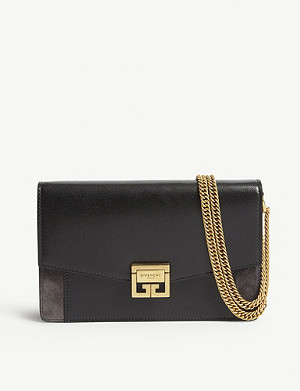 GIVENCHY GV3 leather and suede wallet-on-chain