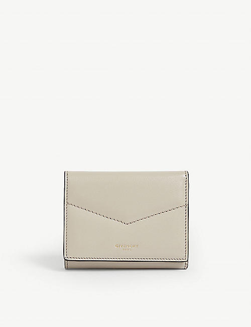 GIVENCHY Small leather trifold wallet