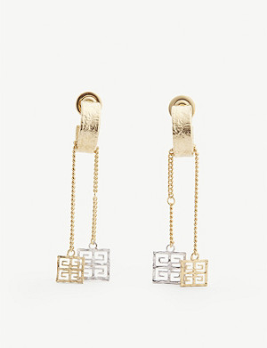 GIVENCHY 4G gold and silver-toned hoop earrings