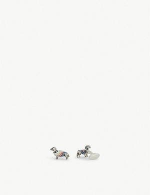 PAUL SMITH Artist Stripe dog cufflinks