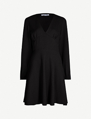 SAMSOE & SAMSOE Cindy cloqué mini dress