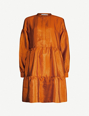 SAMSOE & SAMSOE Margo taffeta mini shirt dress