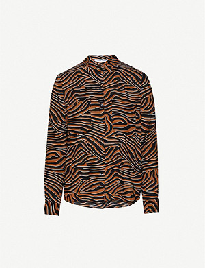 SAMSOE & SAMSOE Milly animal-print crepe shirt