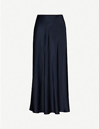 SAMSOE & SAMSOE: Alsop high-waisted satin-crepe skirt
