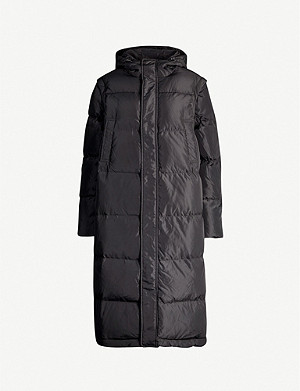 GANNI Longline quilted shell-down jacket