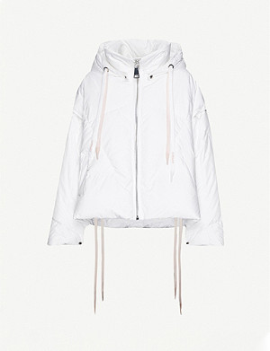 KHRISJOY Khris hooded funnel-neck shell-down jacket