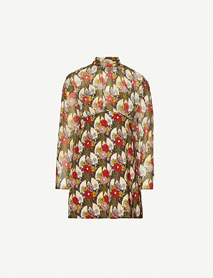 TOPSHOP Idol floral-print crepe mini dress