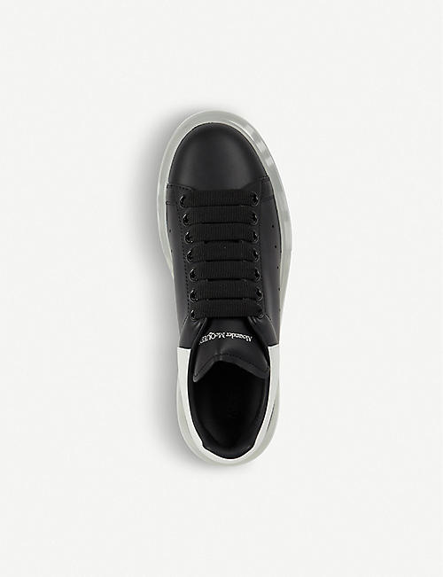 ALEXANDER MCQUEEN Show transparent-sole leather trainers