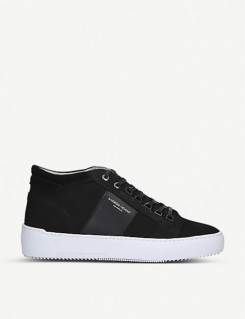 ANDROID: Mid Propulsion nubuck leather trainers