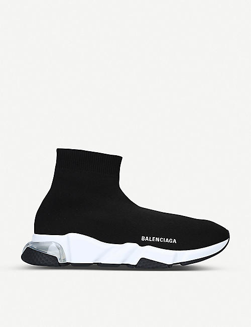 BALENCIAGA Speed knitted bubble high-top trainers
