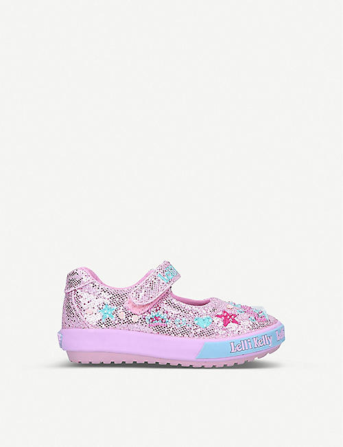 LELLI KELLY: Tiara Baby glittered woven dolly shoes 1-4 years