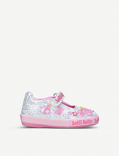 LELLI KELLY: Leda glittered canvas dolly shoes 3-8 years