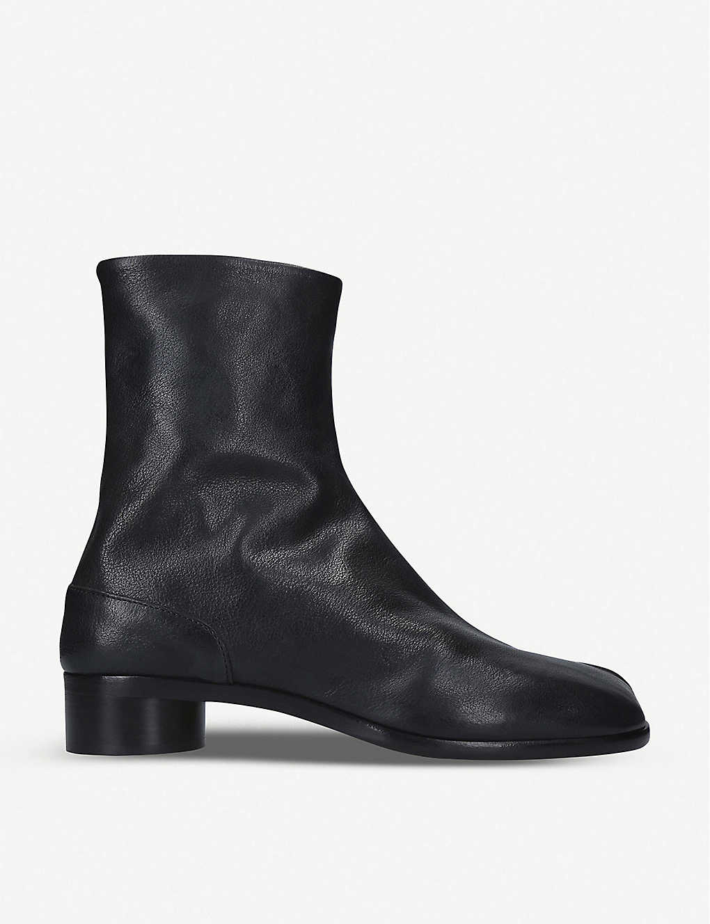 MAISON MARGIELA: Tabi leather ankle boots