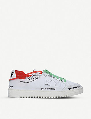 OFF-WHITE C/O VIRGIL ABLOH: 2.0 screen-printed leather trainers
