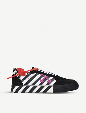 OFF-WHITE C/O VIRGIL ABLOH Vulcanized leather and canvas low-top trainers