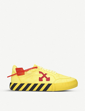 OFF-WHITE C/O VIRGIL ABLOH Vulcanised low-top canvas trainers