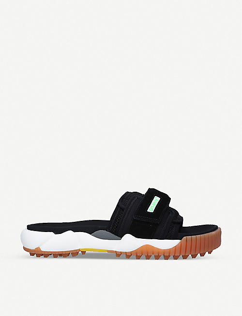 OFF-WHITE C/O VIRGIL ABLOH: Oddsy Minimal leather and cotton sliders
