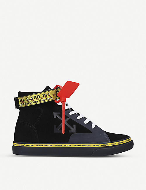 OFF-WHITE C/O VIRGIL ABLOH: Vulcanized leather and canvas high-top trainers