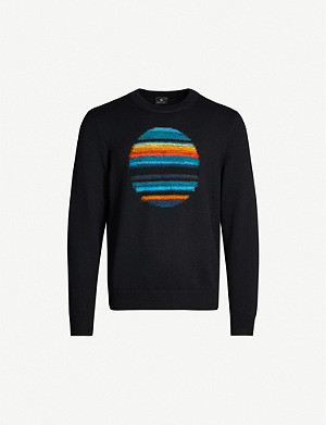 PS BY PAUL SMITH Horizon intarsia wool-blend jumper