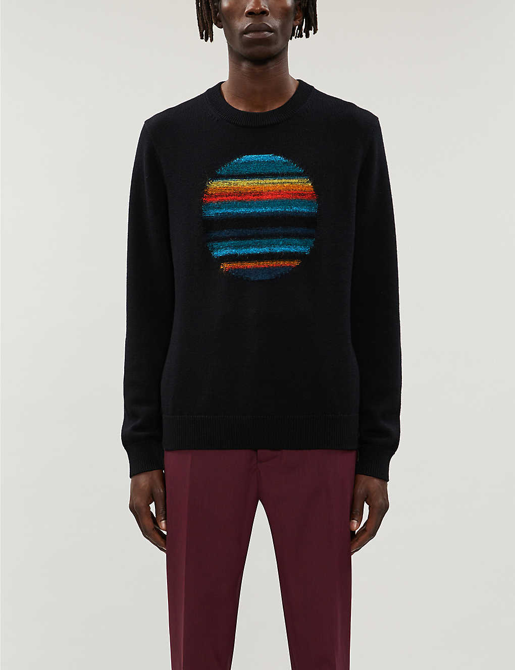PS BY PAUL SMITH: Horizon intarsia wool-blend jumper