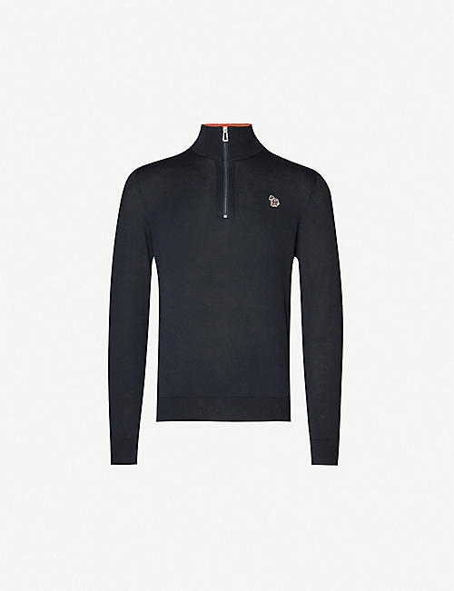 PS BY PAUL SMITH Logo-embellished cotton-knit jumper