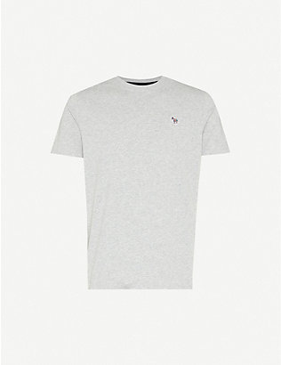 PS BY PAUL SMITH: Zebra-badge organic cotton-jersey T-shirt
