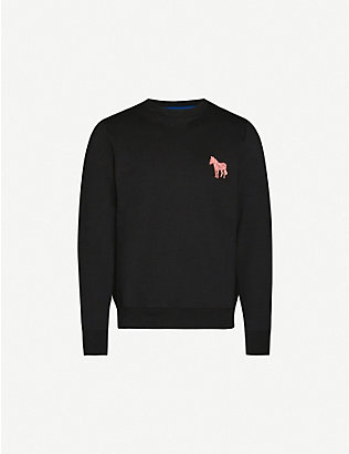 PS BY PAUL SMITH: Zebra badge cotton-jersey sweatshirt