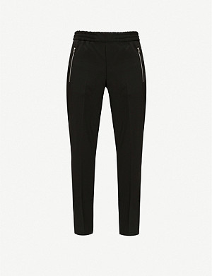 PS BY PAUL SMITH Drawstring relaxed-fit tapered wool-blend trousers