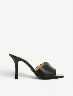 DUNE Mantra leather mules