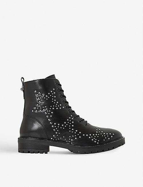 DUNE: Pansies star-studded leather ankle boots