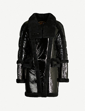 MOOSE KNUCKLES Moosomin metallic leather coat