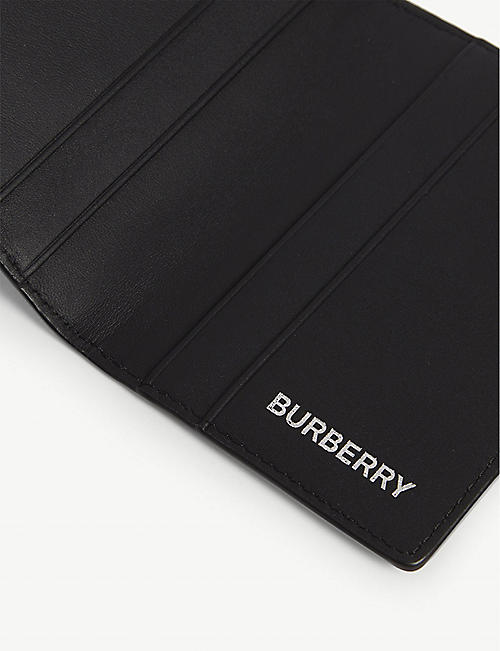 BURBERRY Noah check faux-leather card holder