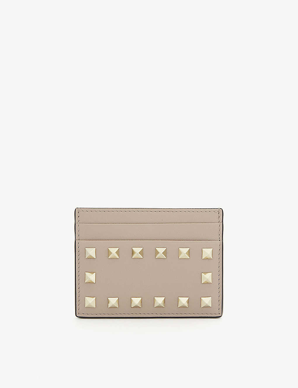 VALENTINO GARAVANI: Rockstud leather card holder