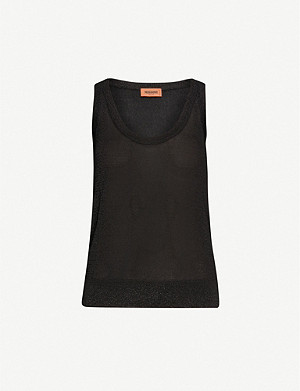 MISSONI Sleeveless metallic-knit top