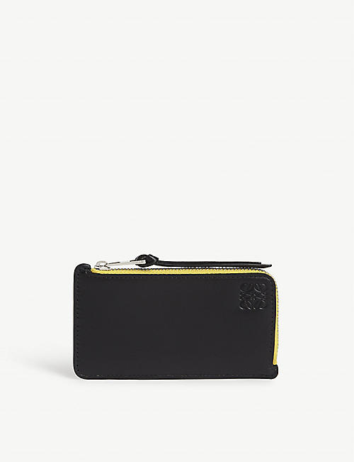 LOEWE Rainbow leather card holder