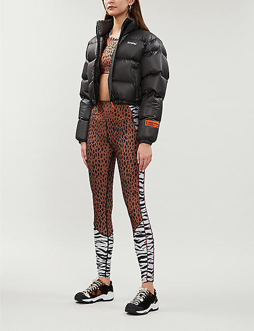 GOOD AMERICAN Animal-print stretch-jersey leggings