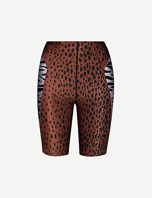 GOOD AMERICAN Animal-print stretch-jersey shorts