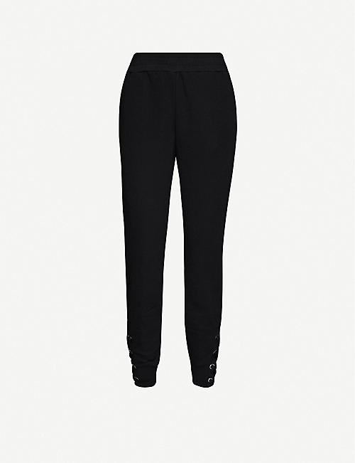 GOOD AMERICAN Lace-up cuff jersey jogging bottoms