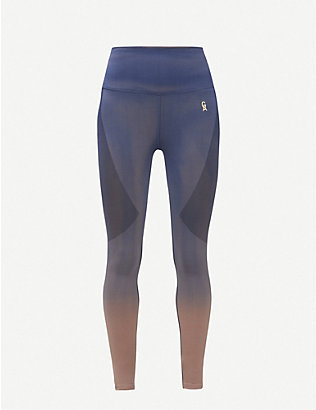 GOOD AMERICAN: Dip-dye seamless high-rise stretch-woven leggings