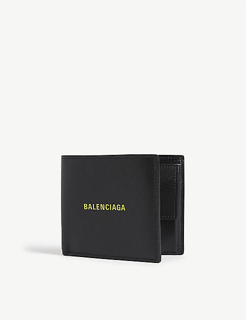 BALENCIAGA Logo leather wallet