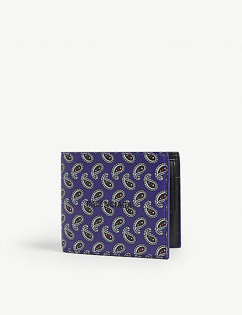 BALENCIAGA Paisley leather wallet
