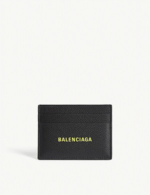 BALENCIAGA Textured leather card holder